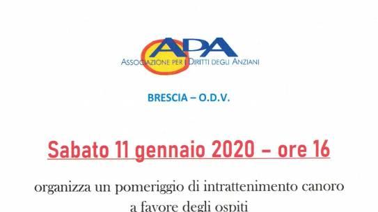 ADA Brescia ODV: pomeriggio di intrattenimento canoro alla Casa di Riposo Pasotti Cottinelli