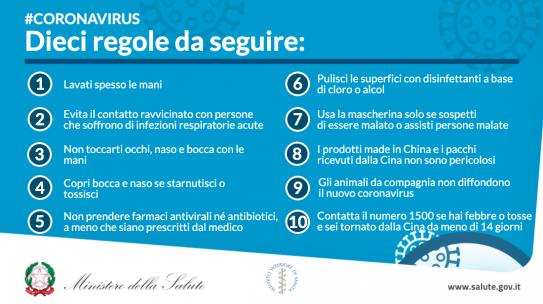 Coronavirus: i decreti ministeriali del 9 e dell'11 marzo